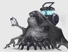 Gene Smuggler by Tooth Wu on ArtStation. Monster Concept Art, Monster Art, Character Concept, Character Design, Character Profile, 2d Character, Alien Races, Warhammer 40k Miniatures, Fantasy Pictures