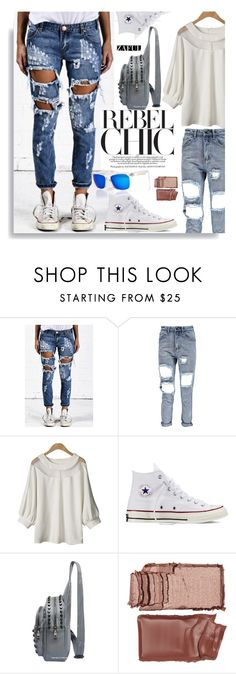 """""""Zaful.com: Rebel Chic"""" by hamaly ❤ liked on Polyvore featuring Converse, Charlotte Tilbury, Superdry, women's clothing, women, female, woman, misses and juniors"""