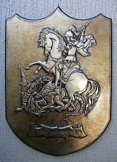 George Art Print by Cacaio Tavares Catholic All Year, Royal Art, Archangel Michael, Custom Tattoo, Saint George, Tattoo Designs, Saints, Metal, Christian