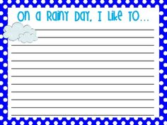 Spring is in the air! Have fun with these printable writing papers and other writing prompt ideas!...