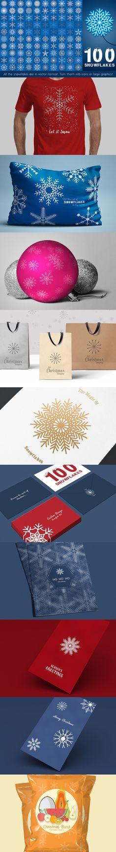 9efe0d0c9a57de3d38baf0f4e311f681 snowflakes vector illustrations jpg