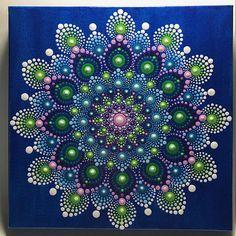 Pintado a mano de Mandala en lona Mandala de meditación
