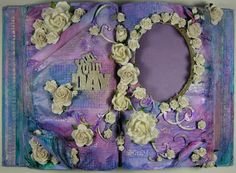 Altered Book Photo Frame and Card by Jodie Mason