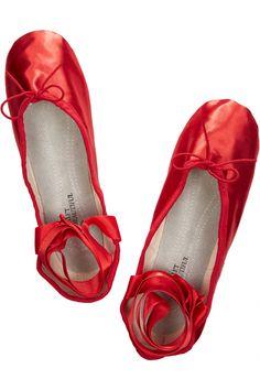 Ballet Beautiful Satin ballet slippers NET-A-PORTER.COM