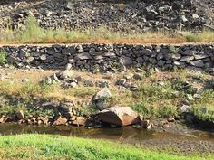 Rocks supported the South Fork Ditch even after it was lined with concrete.