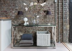 Manhattan console table #neptune #contemporaryliving www.neptune.com