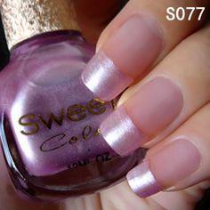 Pretty shimmery purple @BornPrettyStore, Sweet Color Eco-friendly Candy Nail Polish Va... at USD $6.14. http://www.bornprettystore.com/-p-6314.html