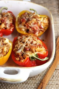 These Double Pork Stuffed Bell Peppers pay tribute to the yumminess of pork, by adding it's perfect compliments - apples and maple.
