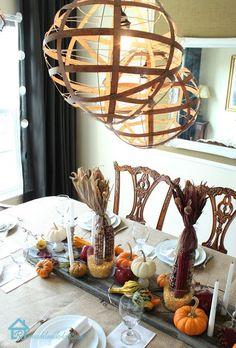 Paper lanterns, wood veneer and hot glue --->A New DIY Lighting Solution