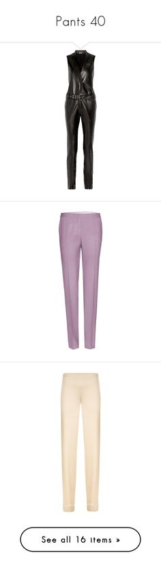 """""""Pants 40"""" by katiemarilexa ❤ liked on Polyvore featuring jumpsuits, jumpsuit, black, jump suit, thierry mugler, zipper jumpsuit, belted jumpsuit, leather jumpsuit, pants and trousers"""