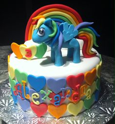 Rainbow Dash My Little Pony Birthday Cake
