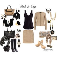 Black and Beige, created by jlaurino on Polyvore