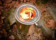 This is a carefully constructed but really large wood gas stove. It looks like something that would be great if it were smaller. It has a nice method for attacking the inside can to the lid.
