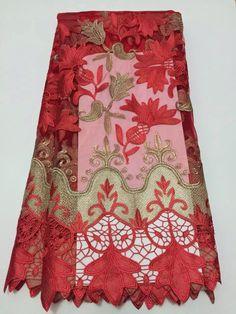 Бесплатная доставка афро тюль кружевной ткани новое поступление африканский шнур гипюр кружевной ткани для нигерийского свадьбы 5yd / lot D4563 купить на AliExpress
