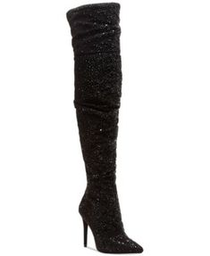Jessica Simpson Luxella Over the Knee Boots - Black Slouchy Boots, Top To Toe, Shoe Boots, Shoe Bag, Black Sparkle, Boots Online, Crazy Shoes, Cute Shoes, Over The Knee Boots