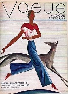 Illustration Photograph - A Vintage Vogue Magazine Cover Of An African by Eduardo Garcia Benito Vogue Vintage, Capas Vintage Da Vogue, Vintage Vogue Covers, Fashion Vintage, Vogue Magazine Covers, Fashion Magazine Cover, Fashion Cover, Magazine Art, Foto Fashion