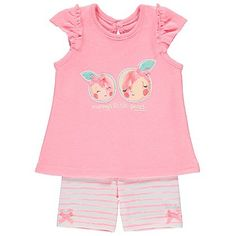Little Peach T-Shirt and Shorts Set   Baby   George at ASDA