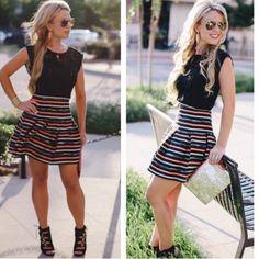 Spotted while shopping on Poshmark: Anthropologie Color-stripe Skirt! #poshmark #fashion #shopping #style #Anthropologie #Dresses & Skirts