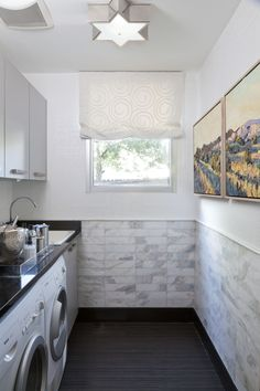 2015 Denver Designer Show House Laundry Room Neutral Side By Quincy Interiors Art
