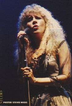 """Stevie ~ onstage at a Tom Petty concert, 1981; """"I used to go over to Tom Petty's house with my can of Hershey's chocolate powder, you know, in case I wanted chocolate milk."""" ~ Stevie Nicks, quote from her 'Belle Fleur' intro, '24 Karat Gold' Tour, in Charlotte, NC, November 10th, 2016"""