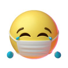 Joy Mask Sticker by Emoji for iOS & Android Animated Smiley Faces, Funny Emoji Faces, Animated Emoticons, Funny Emoticons, Ios Emoji, Smiley Emoji, Funny Animal Images, Emoji Images, Happy Face Emoticon