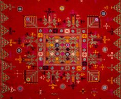 Soof embroidery Kutchh Gujarat. Soof embroidery is done by the Sodha, Rajput and Meghwal communities of Kutchh.