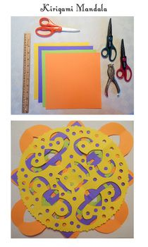 Culture Fusion. Kirigami Mandalas. 3 week (session) lesson plan. Upper Elementary / Middle School.