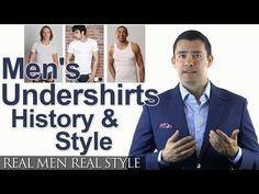 Men's Undershirts - Undershirt History & Style - Under Shirts Fabrics Crew Neck V-Neck Tank Top