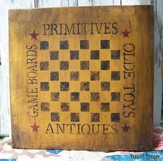 How to make a primitive checkerboard
