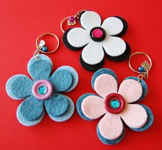 Diy Crafts To Sell, Diy Crafts For Kids, Arts And Crafts, Felt Diy, Felt Crafts, Laser Cut Felt, Felt Keychain, Keychains, Felt Patterns