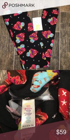 NWT Lularoe 🍧🍦🦄🦄 Blabk Ice Cream Cups OS 2-12 NWT. OS, fits sizes 2-12. Black base with cute ice cream sundae cups. I am not a LLR rep. All price comments will be ignored, but offers always welcomed. Sorry, no trades. LuLaRoe Pants Leggings