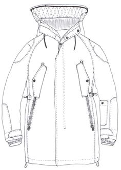 Parka jacket fashion flat