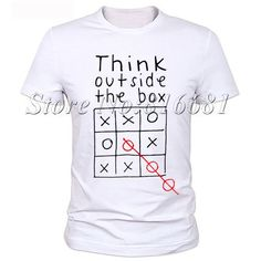 Think Out Side Cool The Box Men Male Letter Quote Modal Short Sleeve O Neck T shirt Funny Customized Top tees