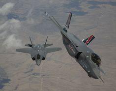 F-35 AF-1 & AF-2 Arrival at Edwards Air Force Base by Lockheed Martin