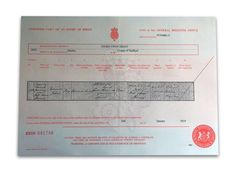 Captain Edward Smith Titanic Certified UK Birth Certificate Copy Authentic Movie Photo Leon Spinks, Birth Giving, Certified Copy, Edward Smith, Titanic Ship, Party Expert, Birth Records, The Next Big Thing, Birth Certificate