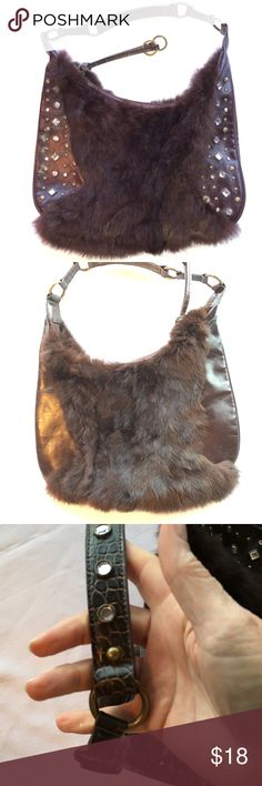 Rabbit fur embellished handbag Very good condition rabbit fur embellished handbag.  I'm RePoshing as its not quite what I needed.  Priced competitively Bags