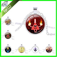 New Popular Steampunk Drama Gravity Falls Mysteries Bill Cipher Wheel Pendant Necklace Glass Mens Handmade Jewelry