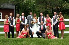 There is just something about a big wedding party! We love them!