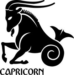 Capricorn Zodiac Sign Symbol Premium Removable Wall Decal - Signs 4 Half