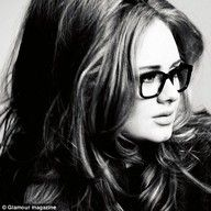 Adele with glasses