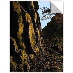 Dean Uhlinger Oregon Coast Sunset, Art Appeelz Removable Wall Art Graphic, Size: 24 x 32, Green