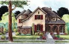 ePlans European House Plan – English Cottage With A Giant Surprise! – 5088 Square Feet and 4 Bedrooms from ePlans – House Plan Code HWEPL76307