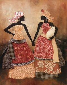 Village Women I Art Print by Carol Robinson