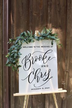 FROSTED Acrylic Wedding Sign, Frosted Acrylic Welcome Sign, Acrylic Wedding Sign, Wedding Welcome Sign, Modern Wedding Sign Handmade Wedding, Rustic Wedding, Our Wedding, Calligraphy Signs, Wedding Painting, Wedding Welcome Signs, Green Weddings, Barn Weddings, Wedding Signage