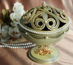 Olive green jewelry box