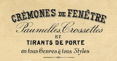 Vintage Clip Art - Beautiful French Typography - The Graphics Fairy