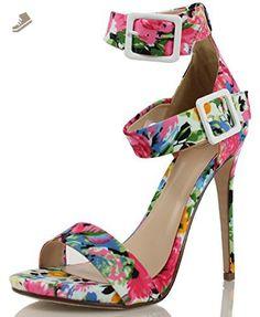 Delicious Women's Alarm Faux Leather Wide Strap Double Ankle Strap Heels - Delicious pumps for women (*Amazon Partner-Link)