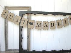 Wedding Sign  Just Married Banner  wedding sign  by AlisaMayde, $28.00