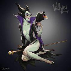 Dessa vez o artista Tarusov imaginou e criou as vilãs da Disney em versão pinups, o cara manda bem demais.