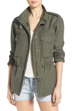 A lightweight jacket is the perfect way to tackle spring! This olive one from Thread & Supply is no exception.